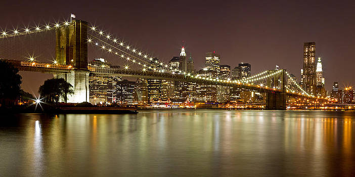 Val Black Russian Tourchin - Brooklyn Bridge at Night Panorama 9