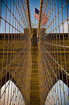 Brooklyn Bridge Steel Web by Martin Goldberg