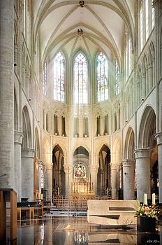Brussels Cathedral by Viktor Korostynski