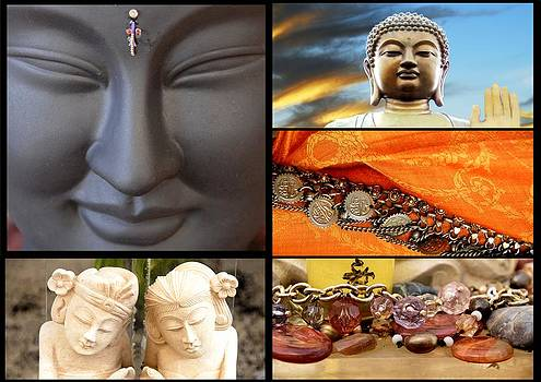 Buddha Collage by Imagevixen Photography
