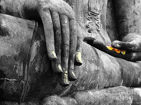 Buddha Sudbuing Mara by Serena Bowles