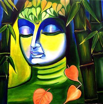 Budhha Meditating under tree by Nirendra Sawan