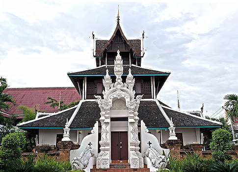 Building in Thai Lanna Style of Art by Krailurk Warasup