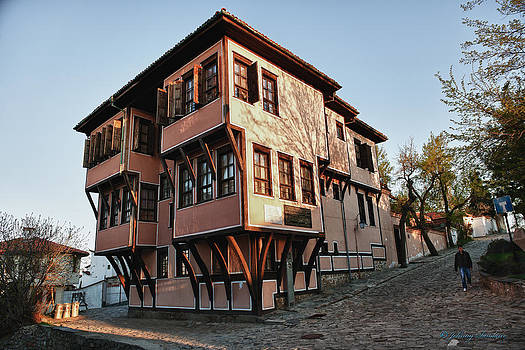 Bulgaria House on Hill by Johnny Sandaire