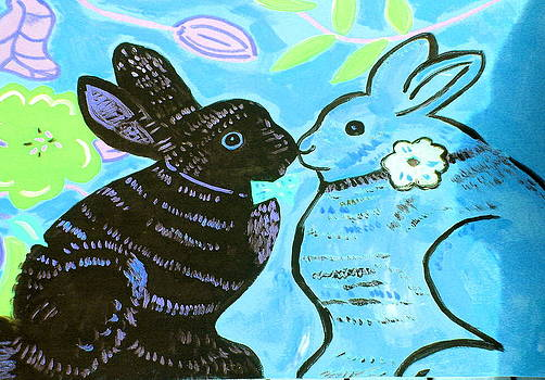 Bunnies In Love by Patricia Lazar