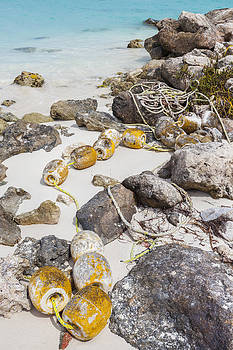Buoys Washed Up On Shore In Cancun by Bryan Mullennix