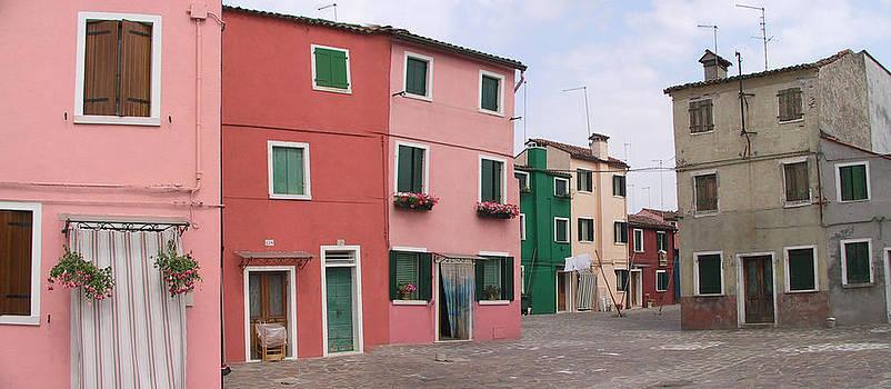 Burano Italy pano 3 by Len Yurovsky