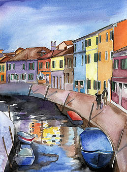 Burano near Venice by Lydia Irving