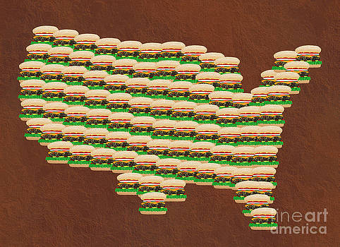 Andee Design - Burger Town USA Map Brown