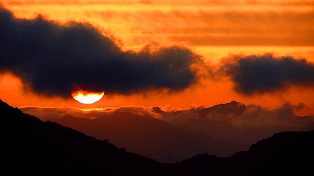 Burning Sunset  by Catherine Natalia  Roche