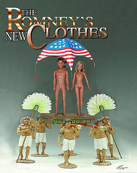 But-But They Are Not Wearing Any Clothes - Mitt Ken and Anne Barbie Romney  by Reggie Duffie
