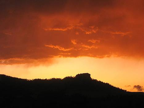 Butte at sunset by J W Kelly