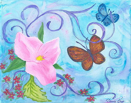 Butterflies and Flowers by Denise Hoag