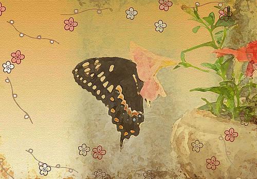 Butterfly Flowers by Dottie Dees