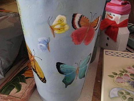 Butterfly Sap Bucket by Fran Haas
