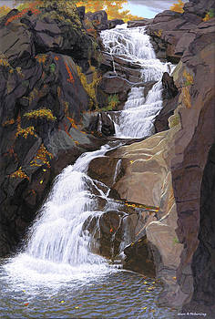 Buttermilk Falls by Glen Heberling