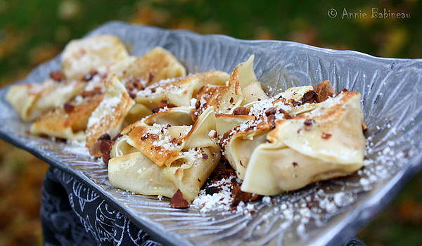 Annie Babineau - butternut squash wontons with sage and garlic