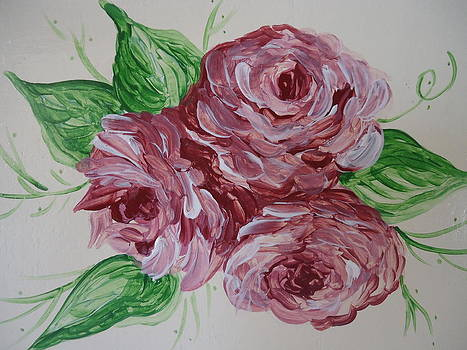Cabbage Roses by Leslie Manley