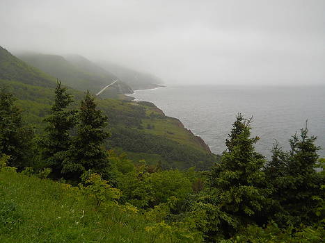 Cabot Trail East in Fog by Jeff Moose