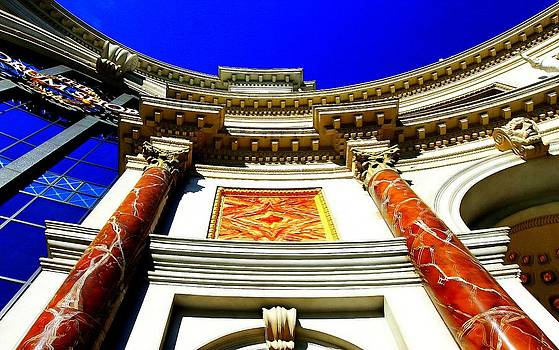 Caesars Palace Architecture by Linda Edgecomb