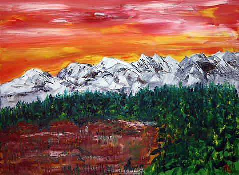 Calgary Mountains by James Bryron Love