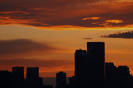 Calgary Sunset in April by James Bryron Love