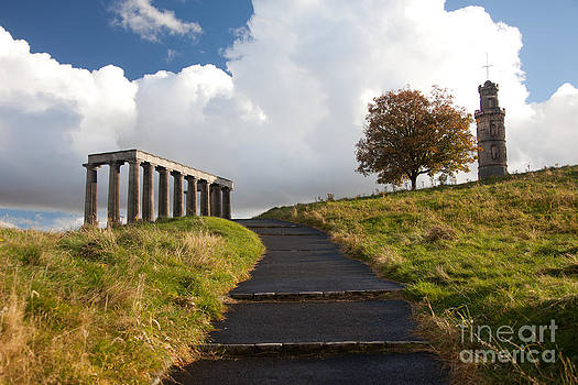 Calton Hill in Edinburgh by Steven Gray