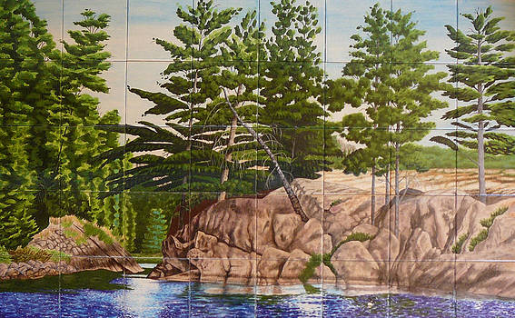 Canadian Wilderness Mural by Dy Witt