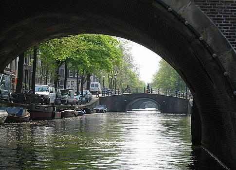 Canal Bridges in Amsterdam by Karin Vergnoux