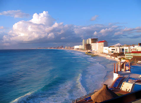 Cancun Waters by Sandy Poore