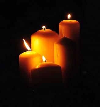 Candle light by Jyotsna Chandra
