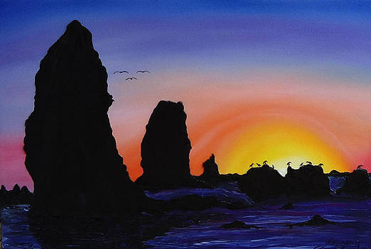 Cannon Beach At Sunset 10 by Portland Art Creations