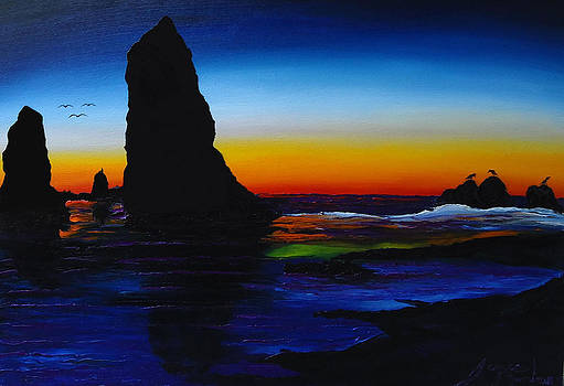 Cannon Beach At Sunset 11 by Portland Art Creations