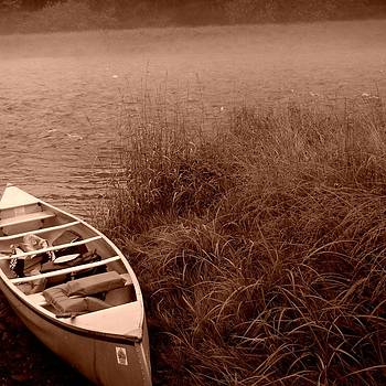 Mary Frances - Canoe in Sepia
