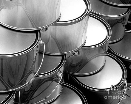 Cans in Black and White by Ranjini Kandasamy