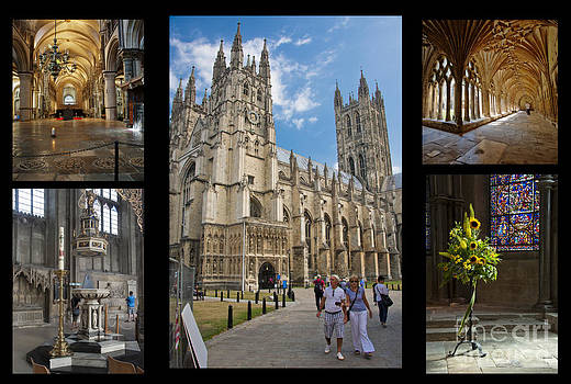 Canterbury Cathedral Collage by Donald Davis
