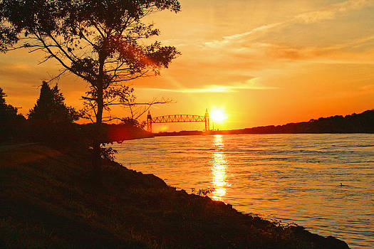 Cape Cod Canal Sunset by Louis Sarkas