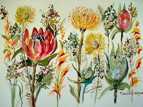 Cape Fynbos 4 by Marion Langton
