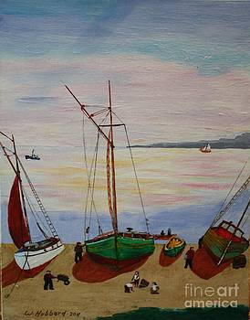 Bill Hubbard - Careening Fishing Boats