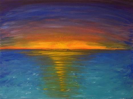 Caribbean Sunset by Liz Angeles