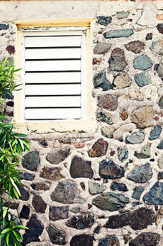 Caribben stone wall with window by Anya Brewley schultheiss