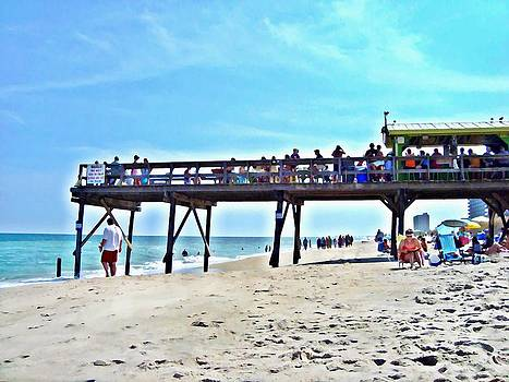 Carolina Beach Tiki Bar by Joan Meyland