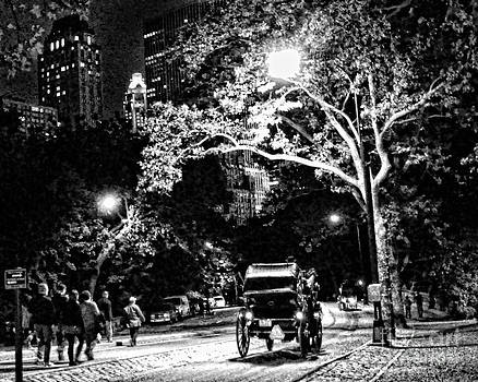 Anne Ferguson - Carriage in Central Park at Night