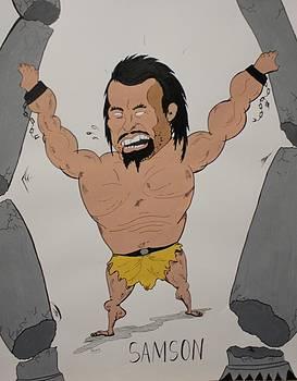 Cartoon Samson by Annie Abraham