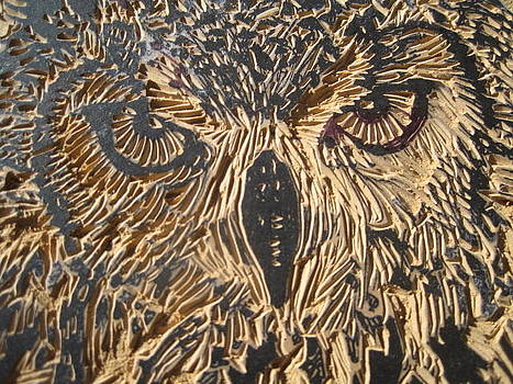 Carved Eagle Owl by Julia Forsyth