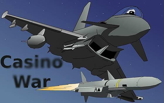 Casino War Euro-Fighter by Casino Artist