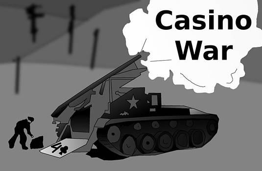 Casino War Tank by Casino Artist