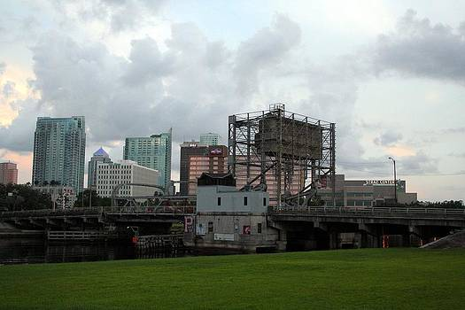 Cass Street DrawBridge in Tampa by April Wietrecki Green