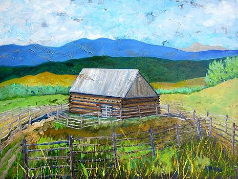 Castle Valley Barn by Kathryn Barry