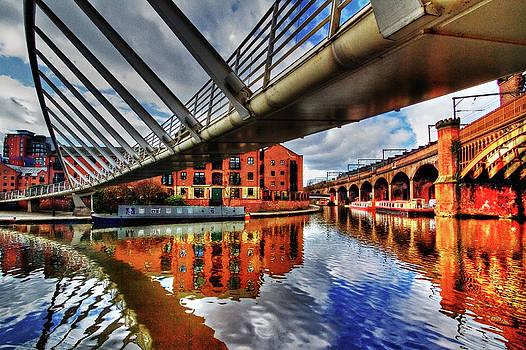 Castlefield Junction Manchester by Sandra Pledger